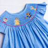 Enchanted Princess Smocked Dress, Blue