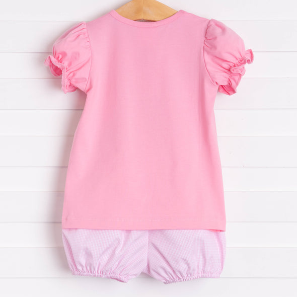 Apple-solutely Cute Applique Bloomer Set, Pink