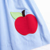 A is for Apple Applique Dress, Blue