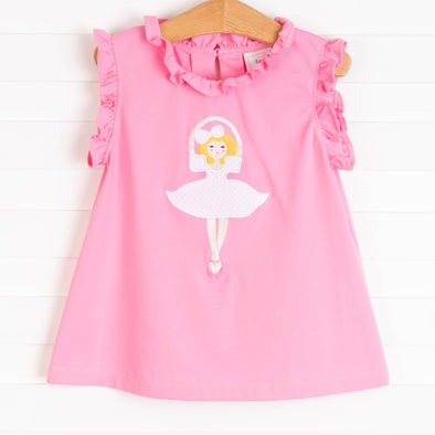 Pirouette Princess Applique Shirt, Pink