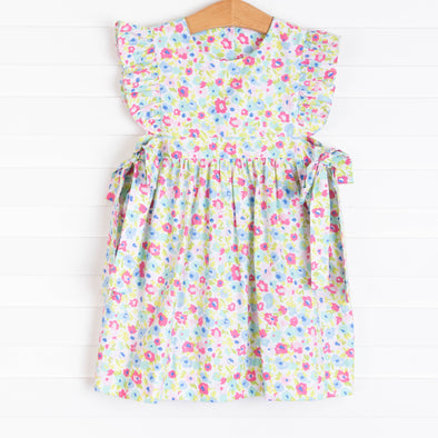 Spring Blooms Woven Dress, Pink
