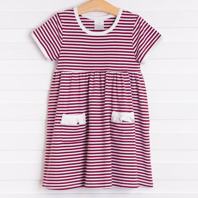 Mississippi State Popover Dress, Maroon