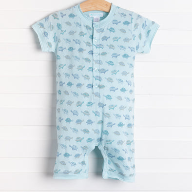Feather Baby Turtles Henley Romper