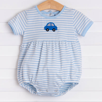 Tiny Wheels Bubble, Light Blue Stripe