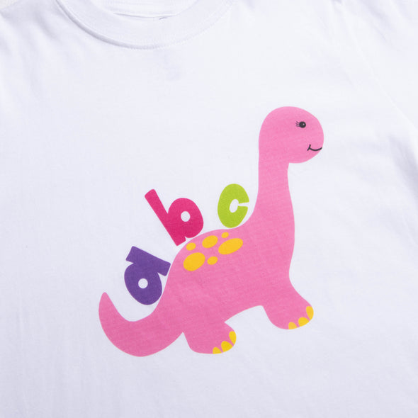 ABC Dino Graphic Tee, Pink