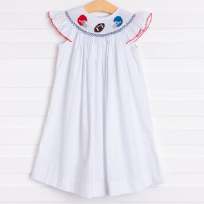 Mississippi Smocked Dress, Cardinal