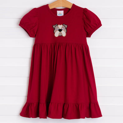 Mississippi State Applique Dress, Maroon