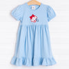 Mississippi Applique Dress, Cardinal