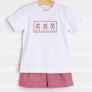 Mississippi State Smocked Short Set