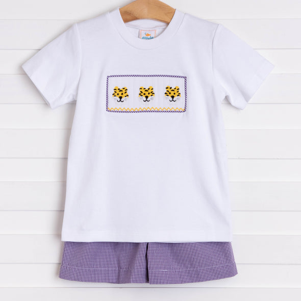 Louisiana Smocked Short Set, Purple
