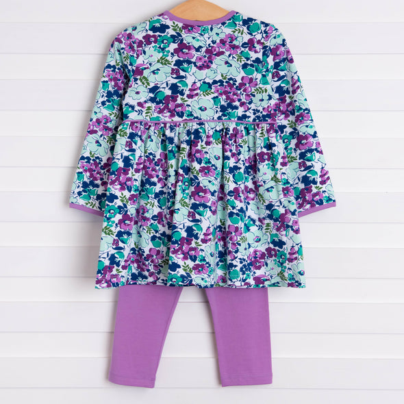 Josie Dress Set, Purple Floral