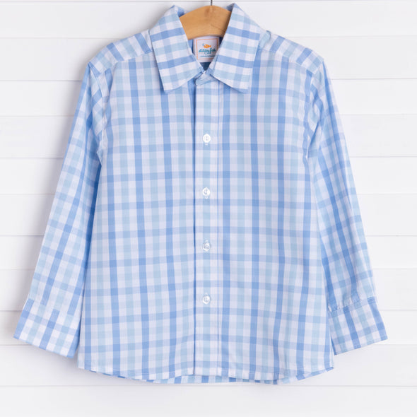 Logan Shirt, Blue Check