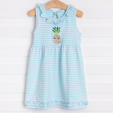 Pineapple Treats Embroidered Dress