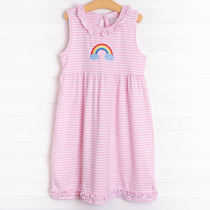 Magical Rainbow Embroidered Dress