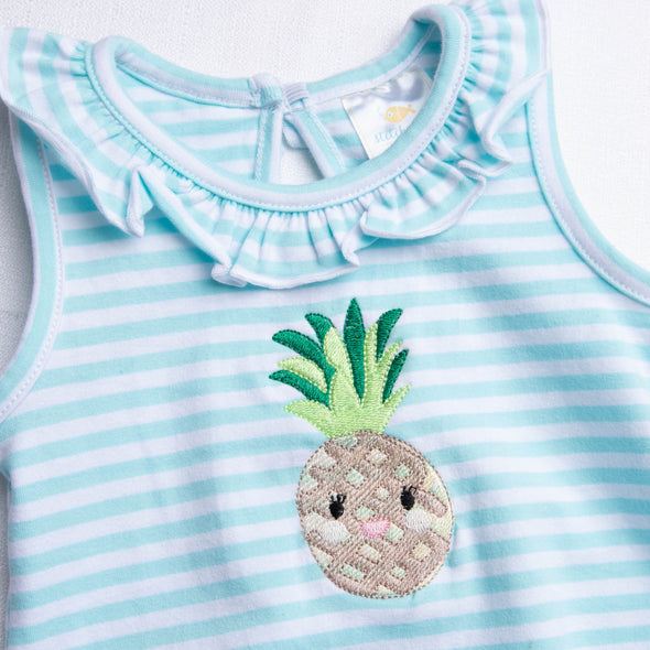 Pineapple Treat Embroidered Bubble