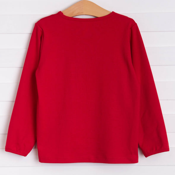 Cherry On Top Applique Shirt, Red
