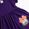 Spooky Spider Applique Dress, Purple