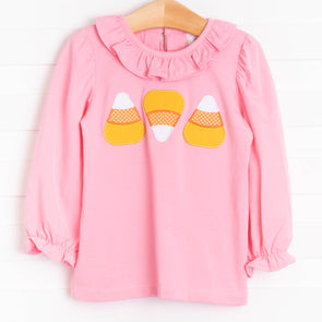 Eleanor Ruffle Shirt, Candy Corn