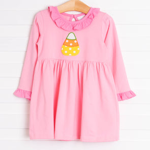 Candy Corn Applique Dress, Pink