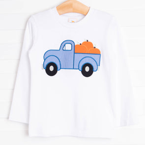 Pumpkin Pickup Truck Shirt, White