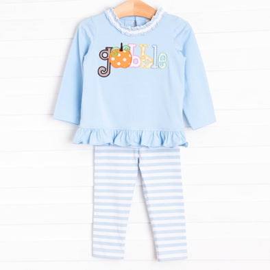 Gobble Gobble Legging Set, Light Blue