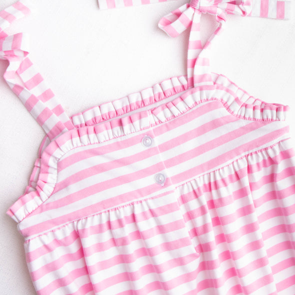 Sweetest Sprinkles Smocked Bubble, Pink Stripe