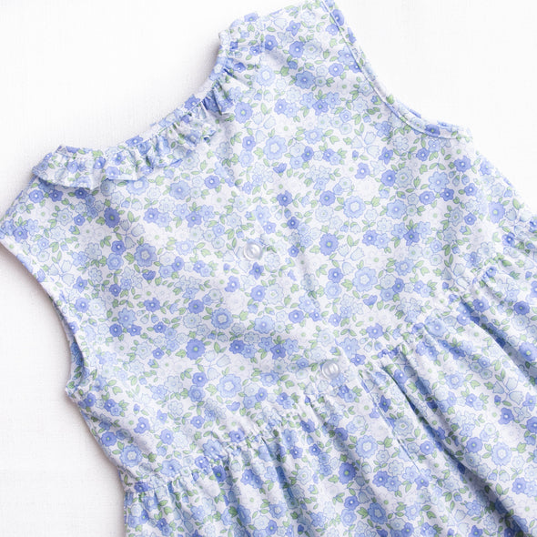 Daisy Garden Dress, Blue