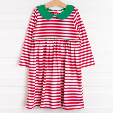 Emily Dress, Red and Green