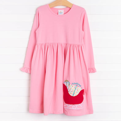 Many Gifts Applique Dress, Pink