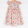 Angel Dear Summer Floral Dress and Diaper Cover, Pink