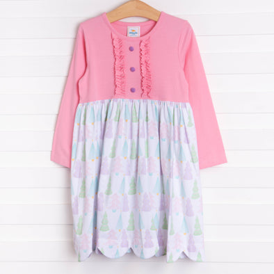 Winter Forest Dress, Pink