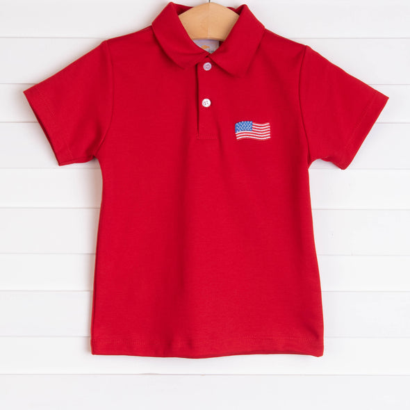 Stars and Stripes Pima Shirt, Red