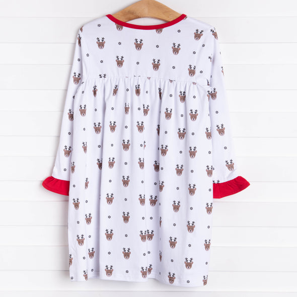 Little Reindeer Dress, Red