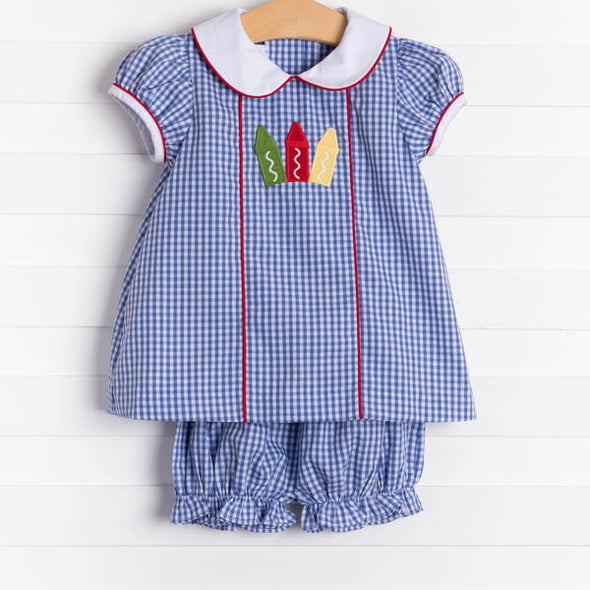 Little English Crayon Abbey Bloomer Set