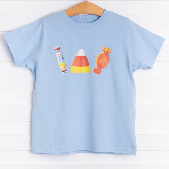 Halloween Treats Graphic Tee, Blue