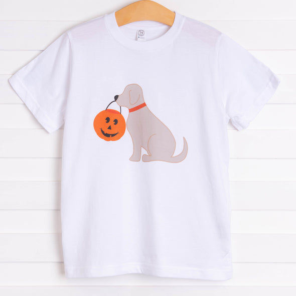 Halloween Puppy Graphic Tee, White