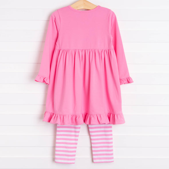 Perfect Gifts Applique Dress Set, Pink