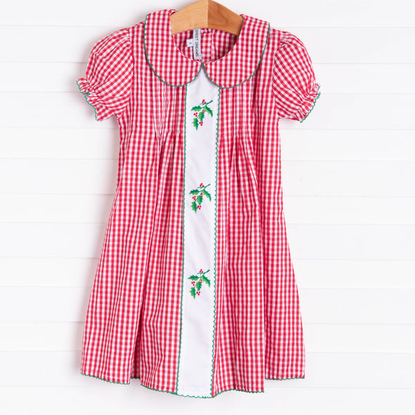 Sweet Dreams Holly Dress, Red Gingham