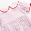 Color the World Smocked Ruffle Bubble, Red Bitty Dot