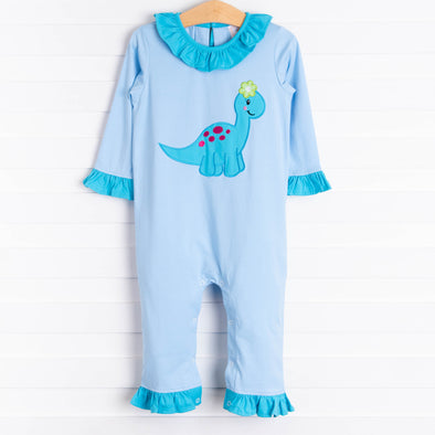 Daisy The Dino Romper, Cloud Blue