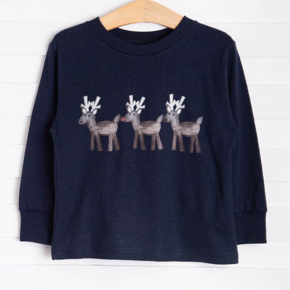 Reindeer Trio Graphic Tee, 3 Colors