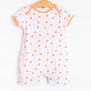 Magnolia Baby My Little Boo Printed Playsuit, Orange