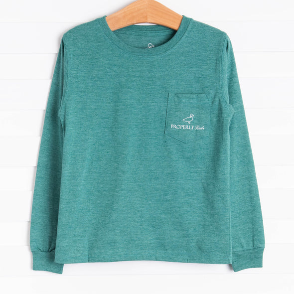 Properly Tied Catch A Ride Long Sleeve Shirt, Hunter Green