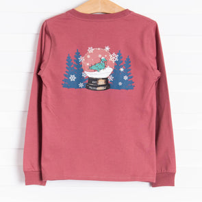 Properly Tied Snowglobe Long Sleeve Shirt, Cayenne