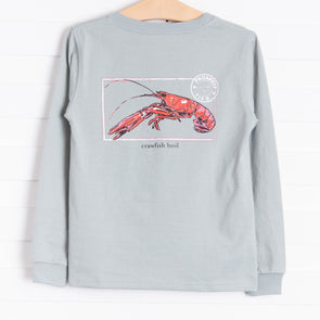 Properly Tied Crawfish Season Long Sleeve Shirt, Sage