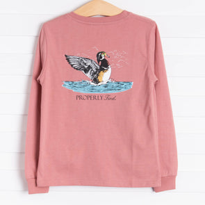 Properly Tied Taking Flight Long Sleeve Shirt, Salmon