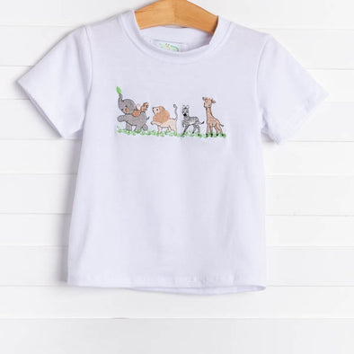 Animals on Parade Shirt, White