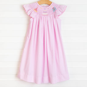 Birthday Wish Smocked Dress, Pink