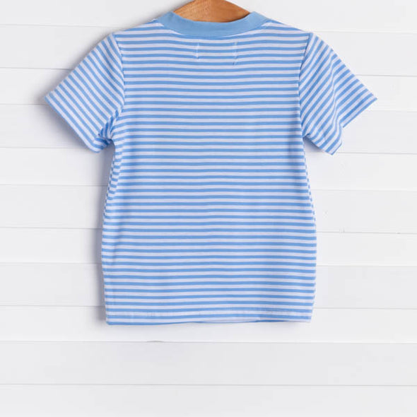 Animals on Parade Shirt, Blue Stripe