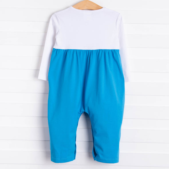 Travel Time Romper, Blue